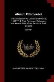 Alumni Oxonienses by Joseph Foster image
