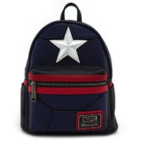 Loungefly: Marvel Captain America - Mini Star Backpack