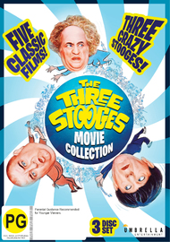 The Three Stooges Movie Collection on DVD image