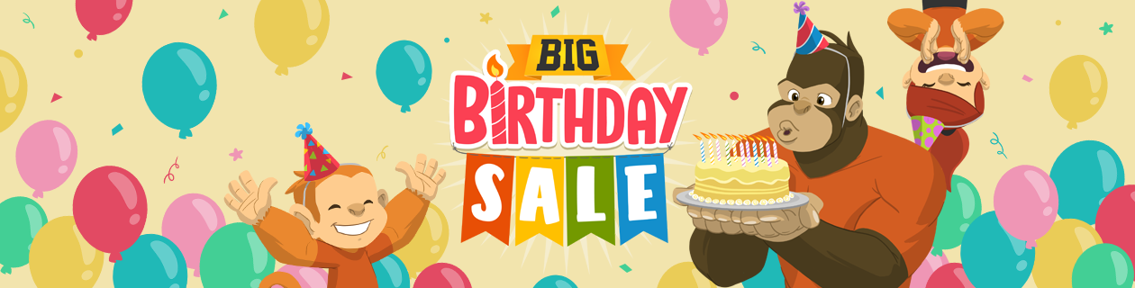 BIG Birthday Sale on NOW!