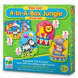Step Ups! 4-In-A-Box Puzzles - Jungle