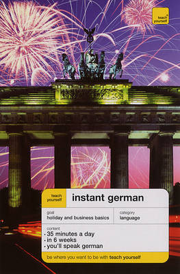 Teach Yourself Instant German by Elisabeth Smith image