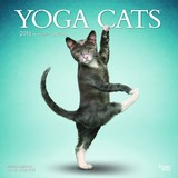 Yoga Cats 2018 Square Wall Calendar by Inc Browntrout Publishers