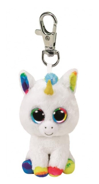 Ty Beanie Boos: White Unicorn - Clip On Plush