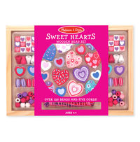 Melissa & Doug: Sweet Hearts Wooden Bead Set