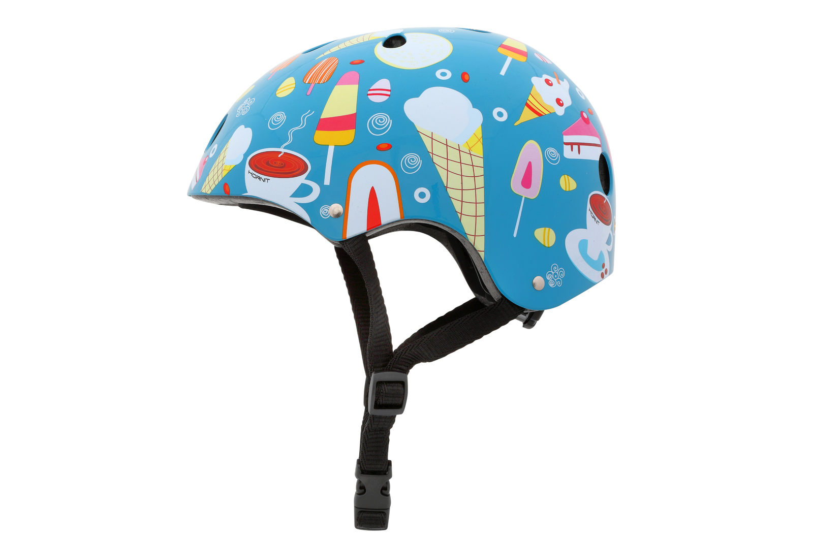 Hornit: Ice Cream Kids Bike Helmet - Medium image