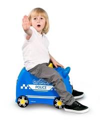 Trunki: Percy Police Car Trunki - Ride-On Suitcase image