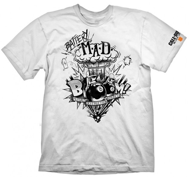 """Call of Duty: Black Ops 4 T-Shirt """"Battery Mad"""", L"""