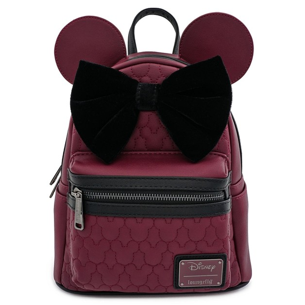 Loungefly: Mickey Mouse - Brown with Bow & Ears Mini Backpack