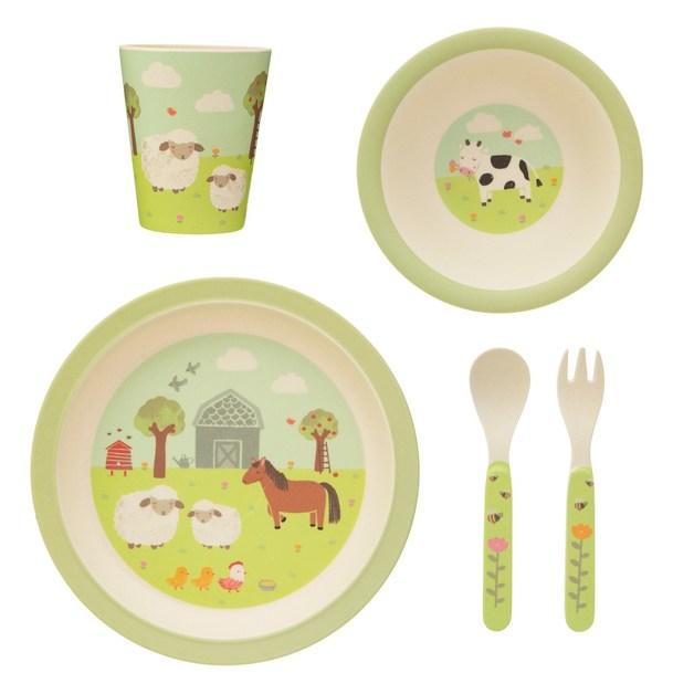 Sass & Belle: Farmyard Friends Bamboo Tableware Set