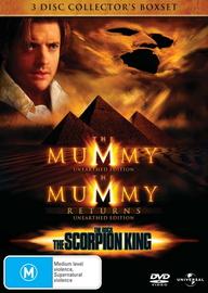 Mummy, The - Collector's Boxset (Mummy / Mummy Returns / Scorpion King) (3 Disc Set) on DVD