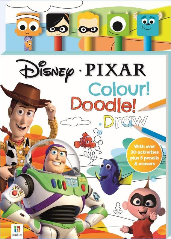 Disney Pixar: Pencil & Eraser - 5-Piece Set