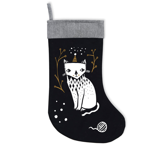 Organic Holiday Stocking - Kitty Love