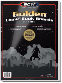 "BCW: Comic Backing Boards - Golden (7.5"" x 10.5"")"