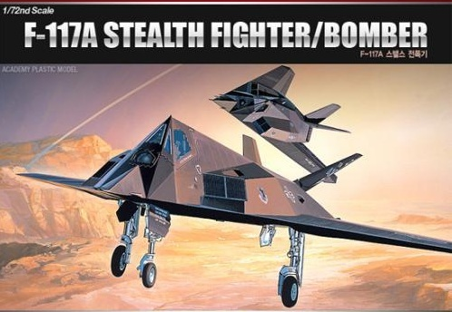 Academy F-117A Stealth 1/72 Model Kit image