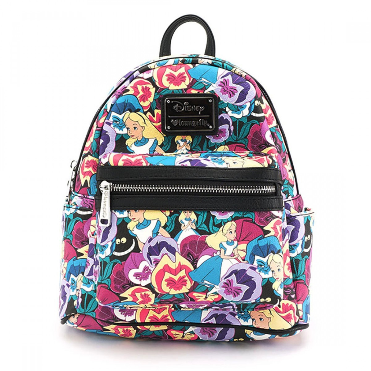 Loungefly Disney Alice In Wonderland Floral Print Mini Backpack image