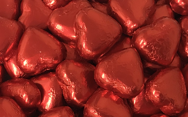 Milk Chocolate Hearts - Red image