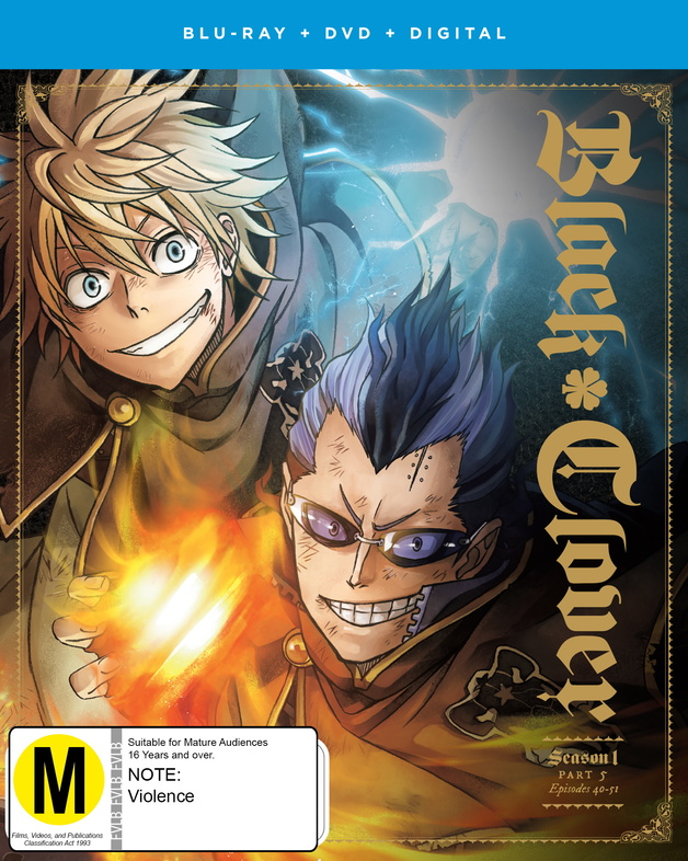 Black Clover: Season 1 - Part 5 (DVD/Blu-ray Combo) on DVD, Blu-ray