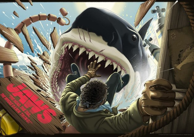 Jaws: Premium Art Print - The Head, The Tail (Limited Edition)