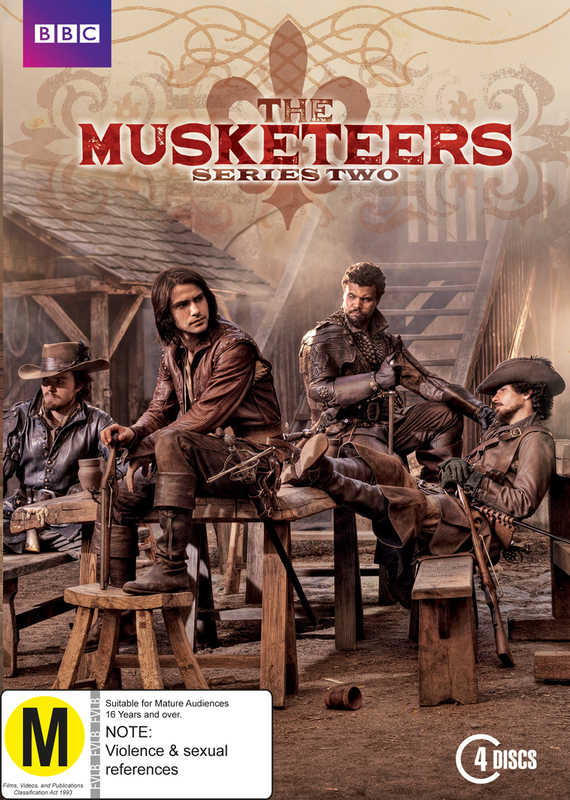 The Musketeers Season 2 on DVD