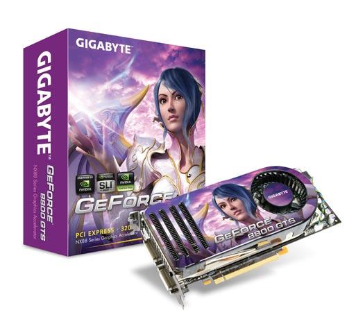 GIGABYTE GV-NX88S320G GeForce 8800 GTS PCIE image