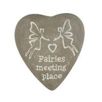 Fairies Meeting Place - Engraved Heart Pebble