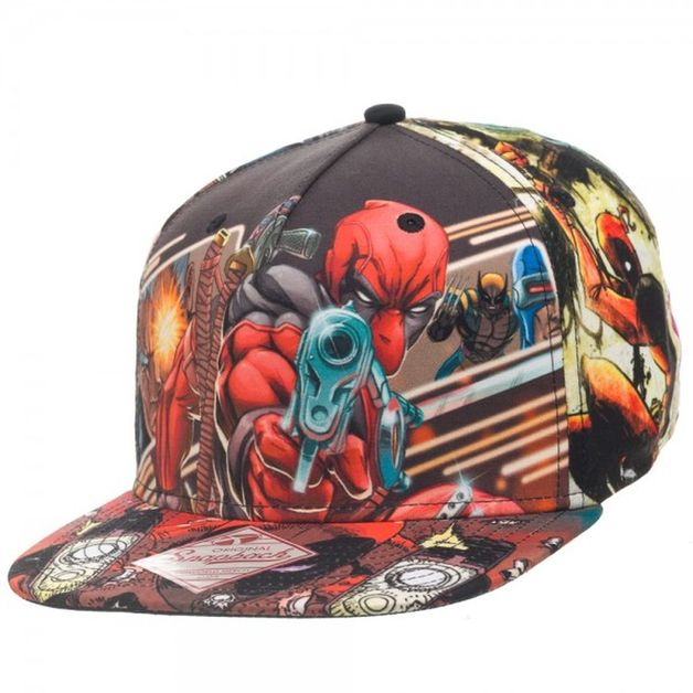 Marvel Deadpool Sublimated Snapback Cap  c347f2c18bee