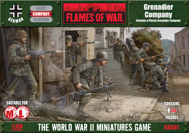 Plastic Flames of War Panzergrenadier Company HQ