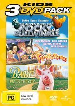 Adventures Of Rocky And Bullwinkle / Flintstones/ Babe: Pig In The City - Kids 3 DVD Pack (3 Disc Set) on DVD