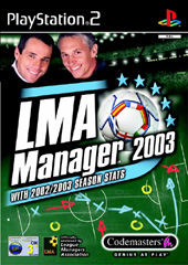 LMA Manager 2003 for PlayStation 2