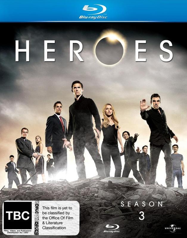 Heroes - Season 3 (5 Disc Set) on Blu-ray