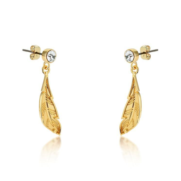 Couture Kingdom: Disney - Princess Pocahontas Feather Earrings (Yellow Gold) image