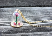 Neon Tuesday: Beauty & The Beast - Enchanted Rose Necklace