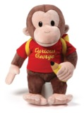 "Gund: Curious George with Backpack - 16"" Plush"