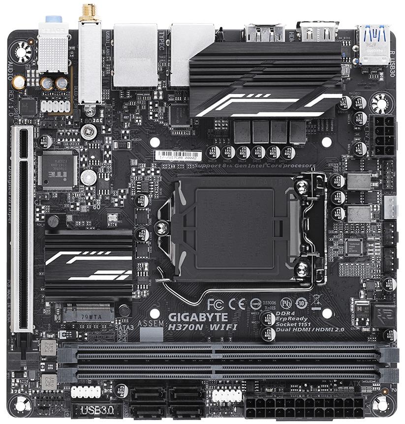Gigabyte H370N WIFI ITX Motherboard image