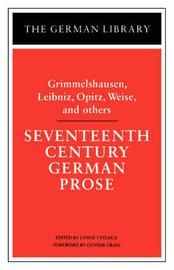 Seventeenth Century German Prose by Grimmelshausen image