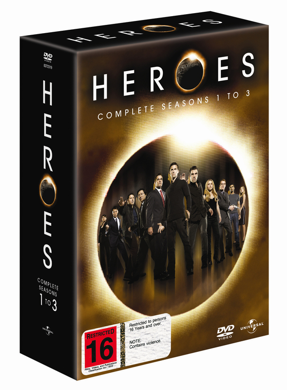 Heroes - Seasons 1-3 on DVD
