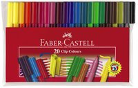 Faber Castell Connector Pens: Felt Tip - Pack of 20