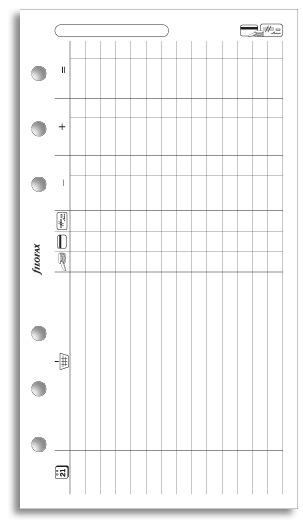 Filofax - Personal Finances (20 Sheets)
