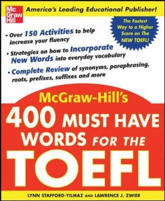 400 Must Have Words for the TOEFL by Lynn M. Stafford-Yilmaz image