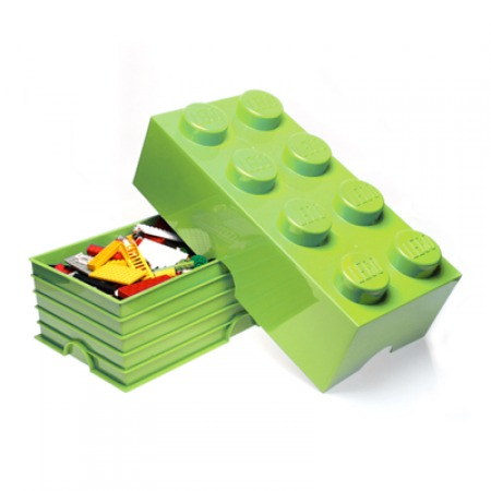 Lego Storage Brick 8 Lime Green At Mighty Ape Nz