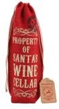 Red Hessian Bottle Bag - Wine Cellar