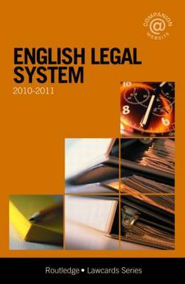 English Legal System Lawcards: 2010-2011 by Routledge Chapman Hall