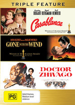 Casablanca / Gone With The Wind / Doctor Zhivago - Triple Feature (3 Disc Set) on DVD