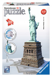 Ravensburger Statue Of Liberty Night 3D Puzz (216pc)