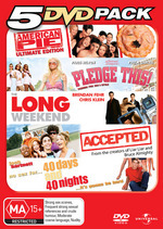 5 DVD Pack (American Pie / Pledge This! / Long Weekend / Accepted / 40 Days And 40 Nights) (5 Disc Set) on DVD
