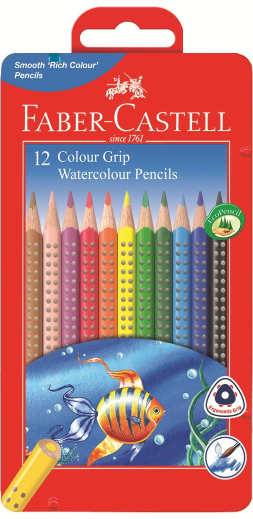 Faber-Castell: Grip Watercolour (Tin of 12) image
