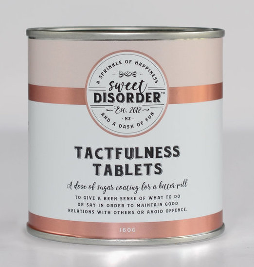 Sweet Disorder: Tactfulness Tablets (160g)