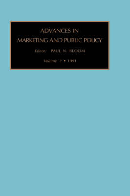Advances in Marketing and Public Policy: v. 2 image