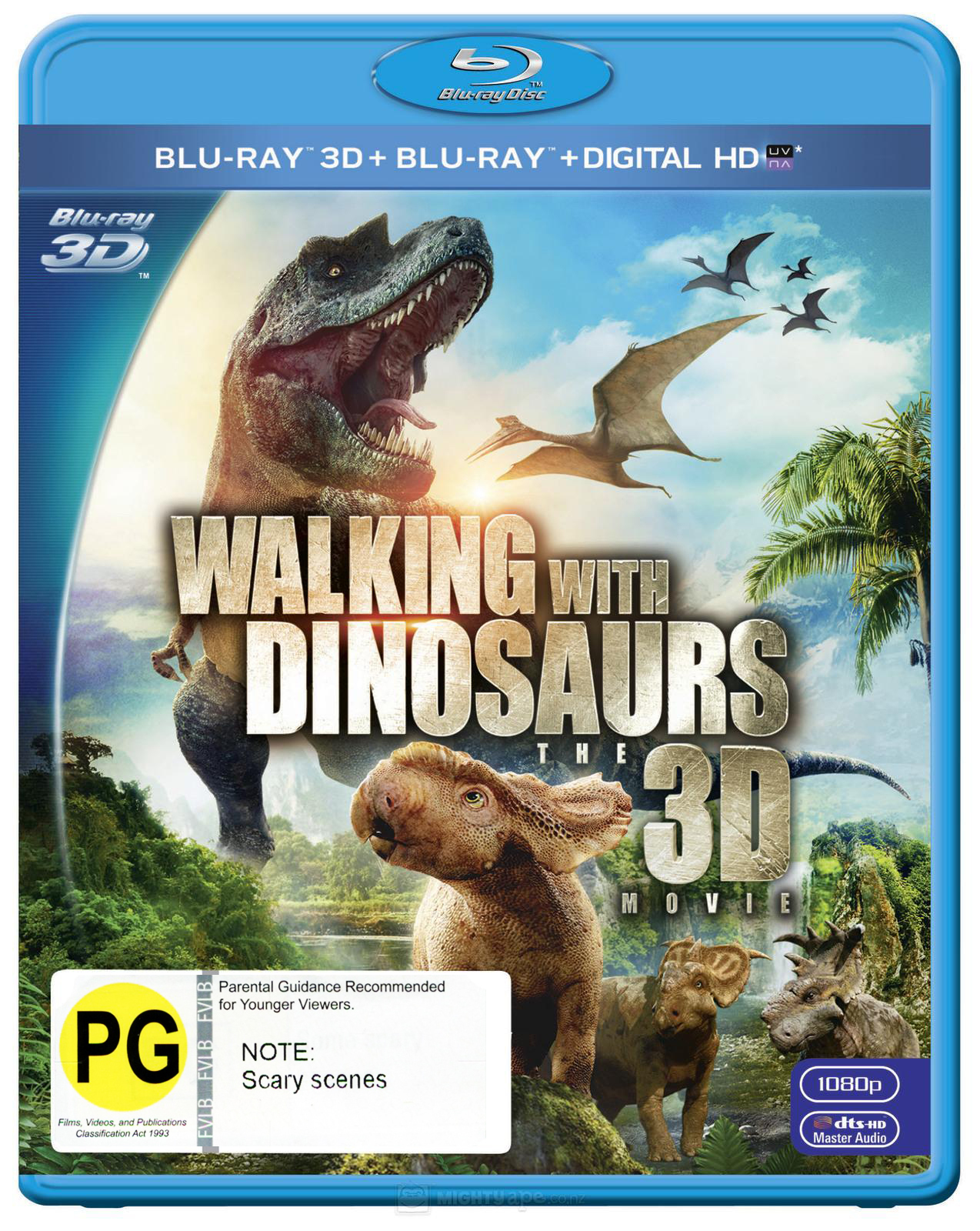 Walking with Dinosaurs on Blu-ray, 3D Blu-ray, UV image